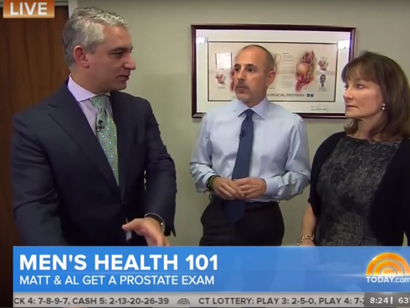 Lenox Hill's Dr. David Samadi Performs Prostate Exams on Matt Lauer, Al Roker